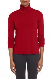 Eileen Fisher Scrunch Neck Top  Regular   Petite at Nordstrom
