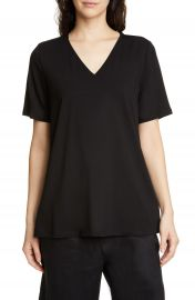 Eileen Fisher Short Sleeve Swing Top   Nordstrom at Nordstrom