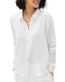 Eileen Fisher Striped Button Down Cotton Shirt Women - Bloomingdale s at Bloomingdales