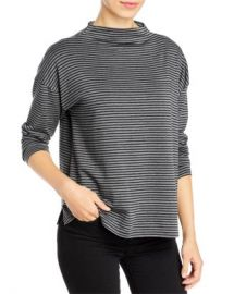 Eileen Fisher Striped Funnel Neck Top Women - Bloomingdale s at Bloomingdales