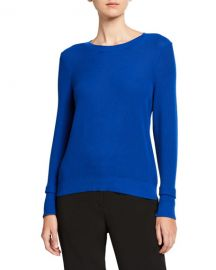Eileen Fisher Textured Crewneck Sweater at Neiman Marcus