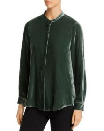 Eileen Fisher Velvet Button-Down Blouse Women - Bloomingdale s at Bloomingdales