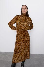 Elastic Print Dress by Zara at Zara