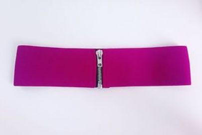 Elastic Zipper Belt at American Apparel