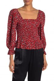 Electra Smocked Peplum Top at Nordstrom Rack