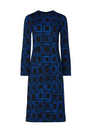 Electric Blue Printed Dress by Marni at Rent The Runway