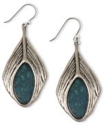 Elenas Lucky Brand feather earrings at Macys