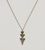 Elena's triangle necklace at American Eagle