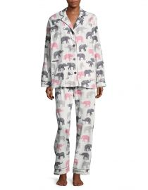 Elephant Print Pajama Set by PJ Salvage at Lord & Taylor