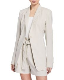 Elie Tahari Hillary One-Button Linen Jacket at Neiman Marcus