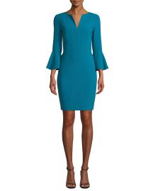Elie Tahari Natanya 3 4-Sleeve Sheath Dress at Neiman Marcus