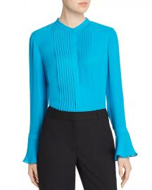 Elie Tahari Paige Pintucked Blouse Women - Bloomingdale s at Bloomingdales