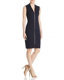 Elie Tahari Verdie Zip-Front Dress at Bloomingdales
