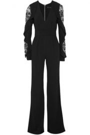 Elie Saab Lace Panel Jumpsuit at The Outnet