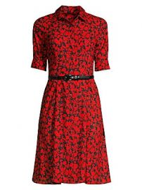 Elie Tahari - Aisha Belted Floral Shirtdress at Saks Fifth Avenue