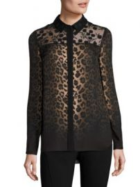 Elie Tahari - Anderson Leopard-Print Silk Blouse at Saks Off 5th