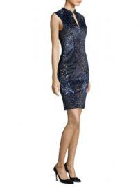 Elie Tahari - Arabella Sleeveless Piped Sheath Dress at Saks Fifth Avenue