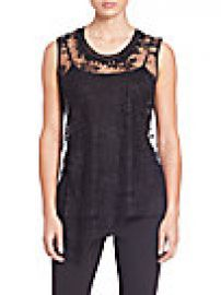 Elie Tahari - Audree Embellished Asymmetrical Lace Blouse at Saks Off 5th