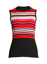 Elie Tahari - Clover Striped Rib-Knit Top at Saks Fifth Avenue