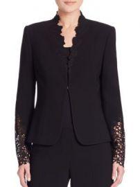 Elie Tahari - Corrian Lace Cutout Sleeve Jacket at Saks Fifth Avenue