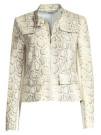 Elie Tahari - Gwewn Snakeskin-Embossed Jacket at Saks Fifth Avenue