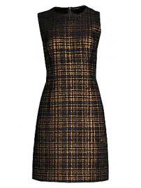 Elie Tahari - Jaelyn Tweed Mini A-Line Dress at Saks Fifth Avenue