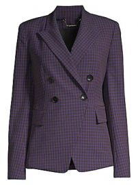 Elie Tahari - Jezebel Double Breasted Check Jacket at Saks Fifth Avenue