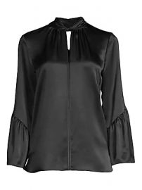 Elie Tahari - Laraib Twist Neckline Silk Blouse at Saks Fifth Avenue