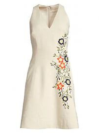 Elie Tahari - Londa Embroidered A-Line Pocket Dress at Saks Fifth Avenue