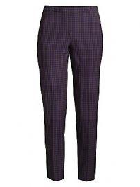 Elie Tahari - Marcia Check Tapered Pants at Saks Fifth Avenue