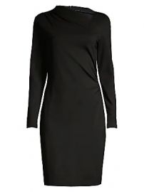Elie Tahari - Mozelle Asymmetric Double-Knit Dress at Saks Fifth Avenue