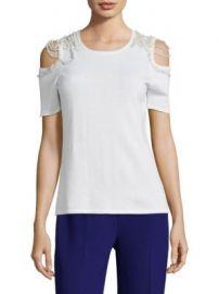 Elie Tahari - Noa Merino Wool Cold Shoulder Sweater at Saks Fifth Avenue