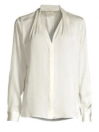 Elie Tahari - Rosalina Stretch Silk Blouse at Saks Fifth Avenue