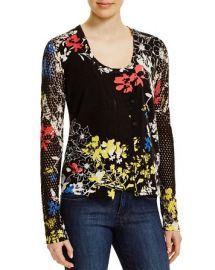 Elie Tahari Bella Cashmere Floral Cardigan at Bloomingdales