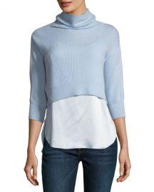 Elie Tahari Claudetta Cashmere  amp  Silk Combo Sweater at Neiman Marcus
