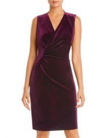 Elie Tahari Dolly Sleeveless Ruched Velvet Dress - 100  Exclusive  Women - Bloomingdale s at Bloomingdales