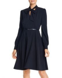 Elie Tahari Eleanora Tie-Neck Belted Dress Women - Bloomingdale s at Bloomingdales