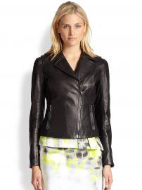 Elie Tahari Friva Leather Jacket at Saks Fifth Avenue