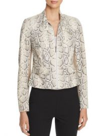 Elie Tahari Gwen Snake Suede Front Jacket Women - Bloomingdale s at Bloomingdales