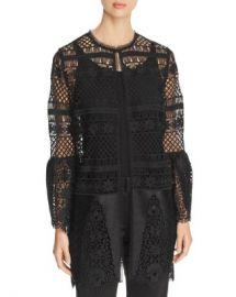 Elie Tahari Jaya Crochet Lace Jacket Women - Bloomingdale s at Bloomingdales