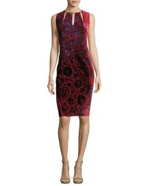 Elie Tahari Jemra Sleeveless Printed Satin Dress   Neiman Marcus at Neiman Marcus