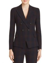 Elie Tahari Jezebel Double-Breasted Plaid Blazer Women - Bloomingdale s at Bloomingdales