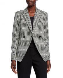 Elie Tahari Jezebel Geo Double-Breasted Jacket at Neiman Marcus