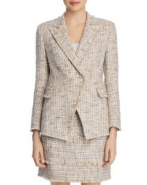 Elie Tahari Jezebel Metallic Tweed Blazer Women - Bloomingdale s at Bloomingdales