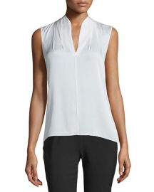 Elie Tahari Judith Sleeveless Silk Blouse at Neiman Marcus