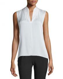 Elie Tahari Judith Sleeveless Silk Blouse at Neiman Marcus