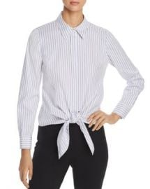Elie Tahari Katarina Striped Tie-Front Shirt - 100  Exclusive Women - Bloomingdale s at Bloomingdales