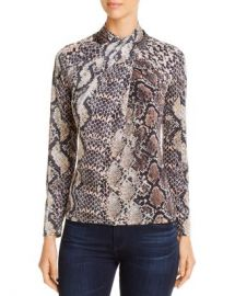 Elie Tahari Keilani Twisted Mock-Neck Top Women - Bloomingdale s at Bloomingdales
