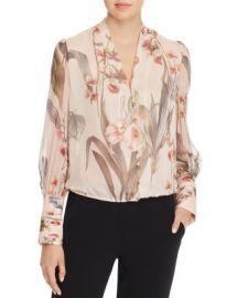 Elie Tahari Laya Floral-Print Silk Blouse Women - Bloomingdale s at Bloomingdales
