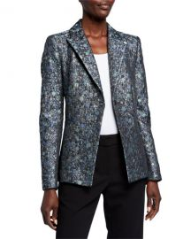 Elie Tahari Limani Circular Jacquard One-Button Jacket at Neiman Marcus